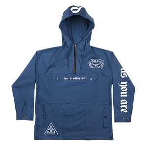 DA-002 HUGE POCKET COTTON ANORAK BLUE